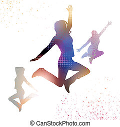 Jumping Vector People