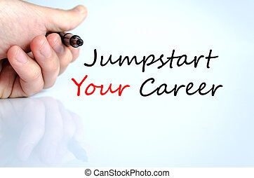 jumpstart, tuo, carriera, concetto