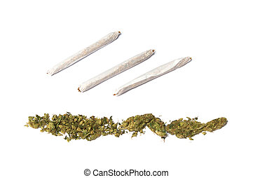 junções, marijuana, fila