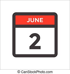 June 1 calendar icon with day of month