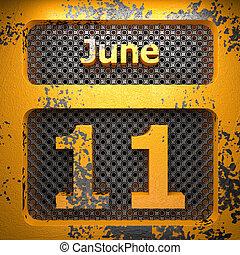 june 11 of painted steel