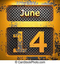 june 14 of painted steel