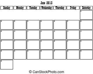 June 2013 planner