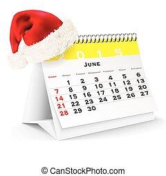 June 2015 desk calendar