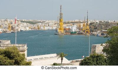 June 2016. Valletta, Malta. Harbor cranes. - June 2016....