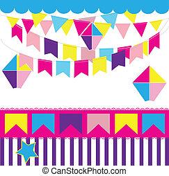 June party - Colorful party decoration