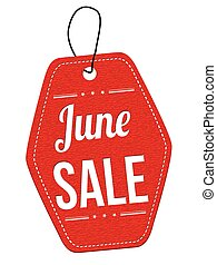 June sale label or price tag
