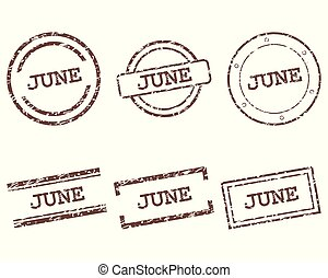 June stamps