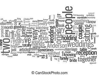 June Weddings text background wordcloud concept