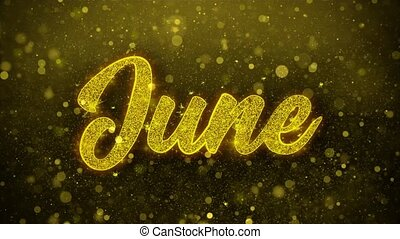 June Wishes Greetings card, Invitation, Celebration Firework...