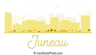 Juneau City skyline golden silhouette. Vector illustration. ...