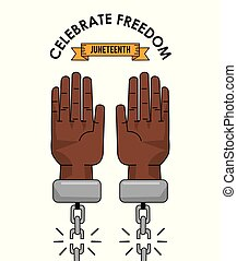 juneteenth day celebrate freedom slave image vector illustration