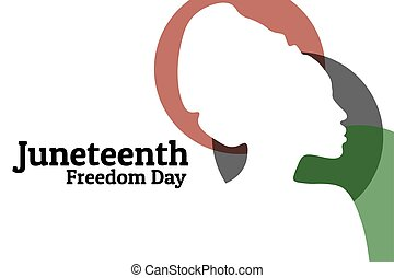 Juneteenth, June 19. Holiday concept. Template for background, banner, card, poster with text inscription. Vector EPS10 illustration