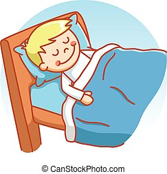junge, eingeschlafen, gekritzel