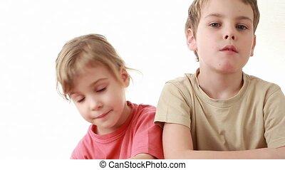 junge, form, herz, balloon, t-shirt, beige, m�dchen, gibt