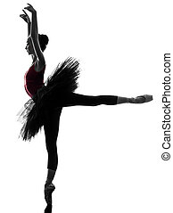 junge frau, ballerina, ballettänzer, tanzen