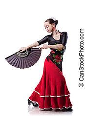 junge frau, tanzen, flamenco