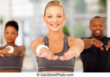 junge frau, workout