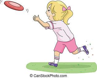 junge, frisbee