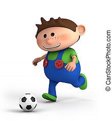 junge, fussballspielen