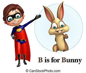 junge, honigraum, kaninchen, zeigen