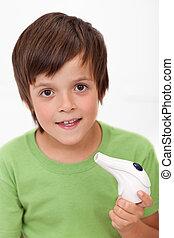 junge, inhalationsapparat