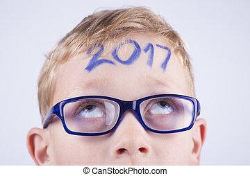 junge, kopf, 2017, zahl, junger