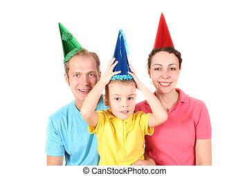 junge, mã¤nnerhemd, familie, farbe, geburstag, glücklich