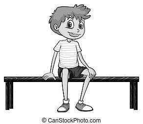 junge sitting