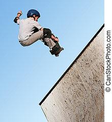 junge, skateboardfahren