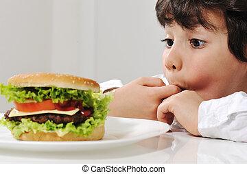 junge, wenig, hamburger
