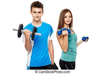 jungendliche, fitness