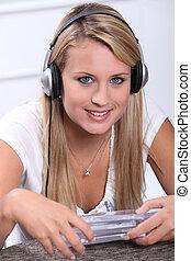 jungendliche, wählen, cds