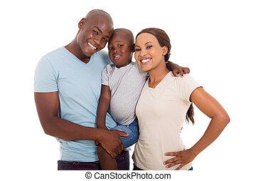 junger, afrikanische amerikanische familie