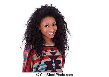 junger, afrikanischer amerikaner, teenagermädchen