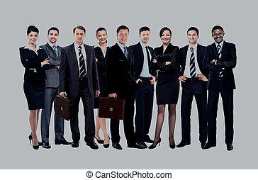 junger, attraktive, geschäftsmenschen, -, der, elite, geschäft mannschaft