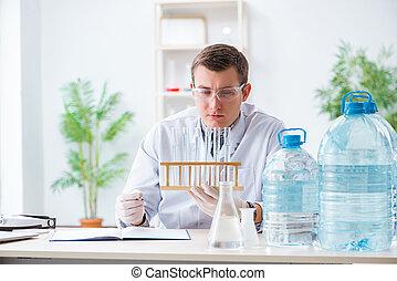 junger, chemiker, schueler, experimentieren, in, labor