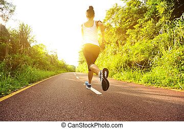 junger, fitness, frauenlauf