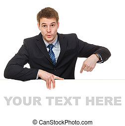 junger, geschäftsmann, besitz, a, whiteboard., begriff, -,...