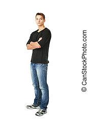 junger mann, stehende