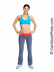 junger, schöne , fitness, woman.