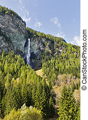 Jungfernsprung waterfall near Heiligenblut in Carinthia, Austria.