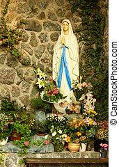 jungfrau maria, grotte