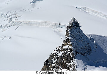Jungfrau weather station - Sphynx odservatory on the top of...