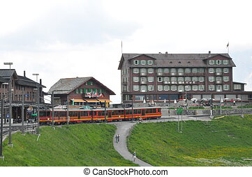 Jungfraujoch in the Alps, Switzerland