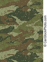 Jungle and mud camouflage pattern.