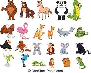 jungle, animal, illustration, dessin animé