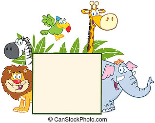 Jungle Animals With Leaves
