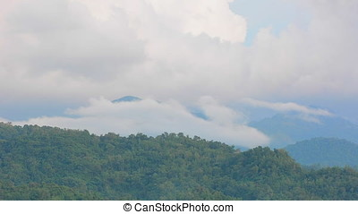 Jungle covered mountains on Panay island in the Philippines