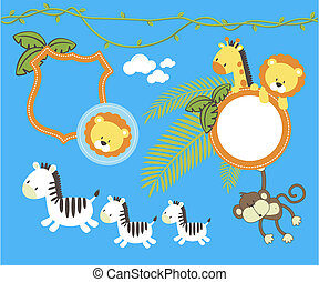 jungle decoration set